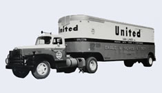 old united van line moving truck